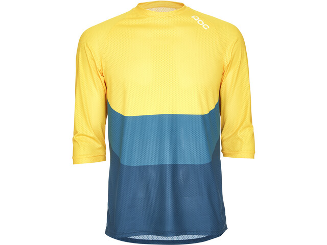 POC Essential Enduro 3/4 Light Maillot Hombre, sulphite multi yellow